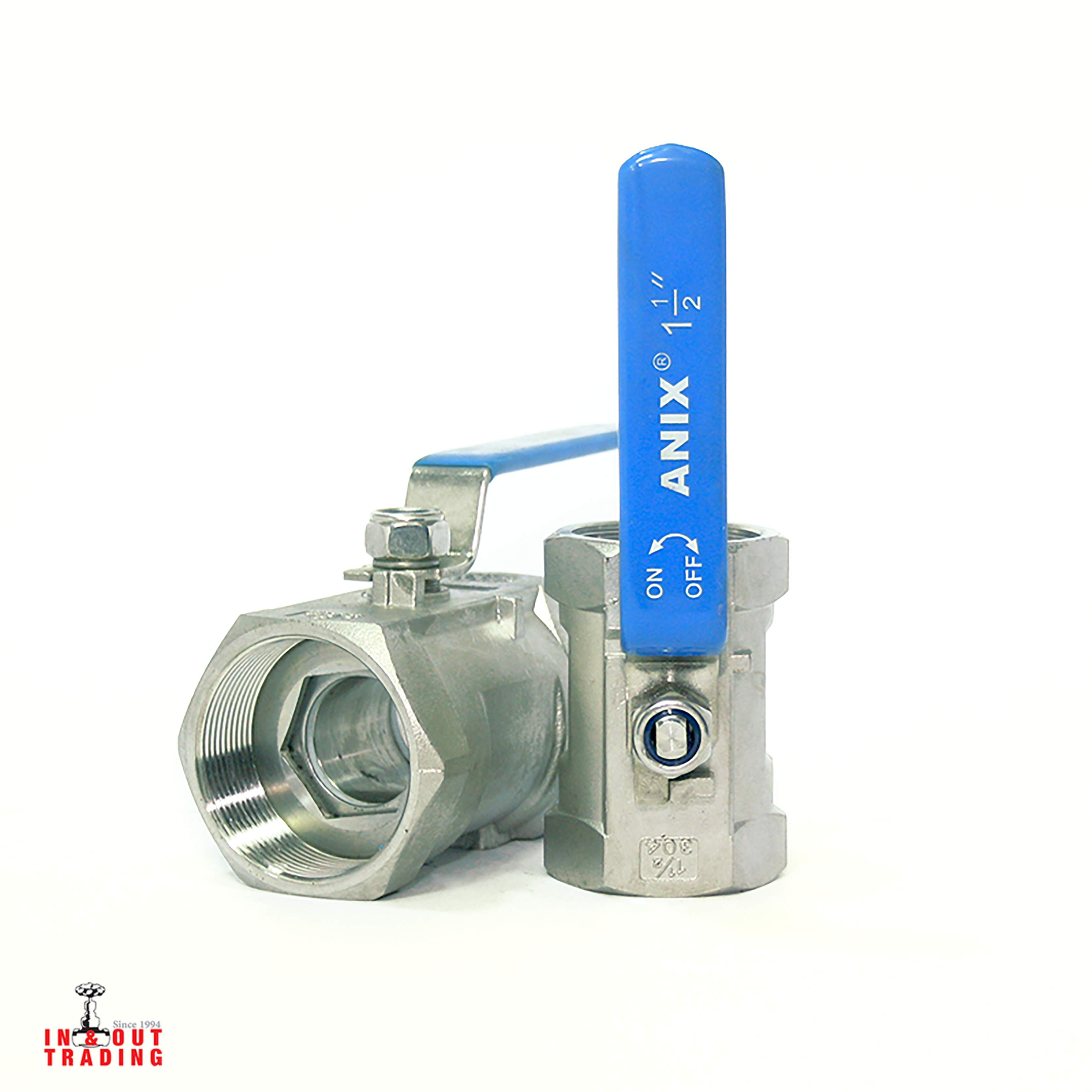 'ANIX 1PC SS304 BALL VALVE PN64'