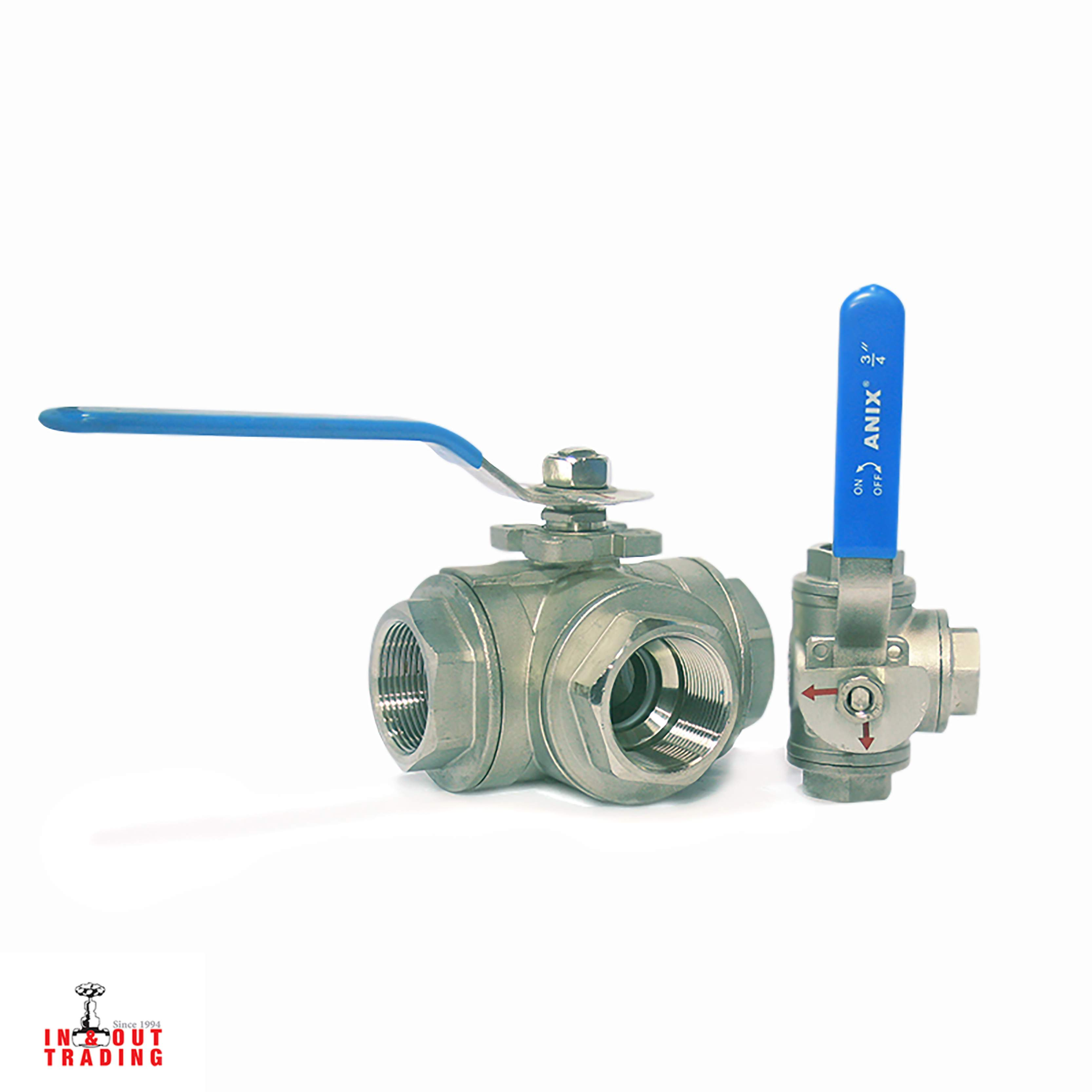 'ANIX - 3 WAY BALL VALVE T & L TYPE SS304 PN64'
