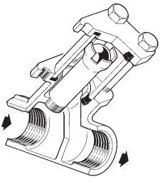 'Sight Check (combined sight glass and check valve)'