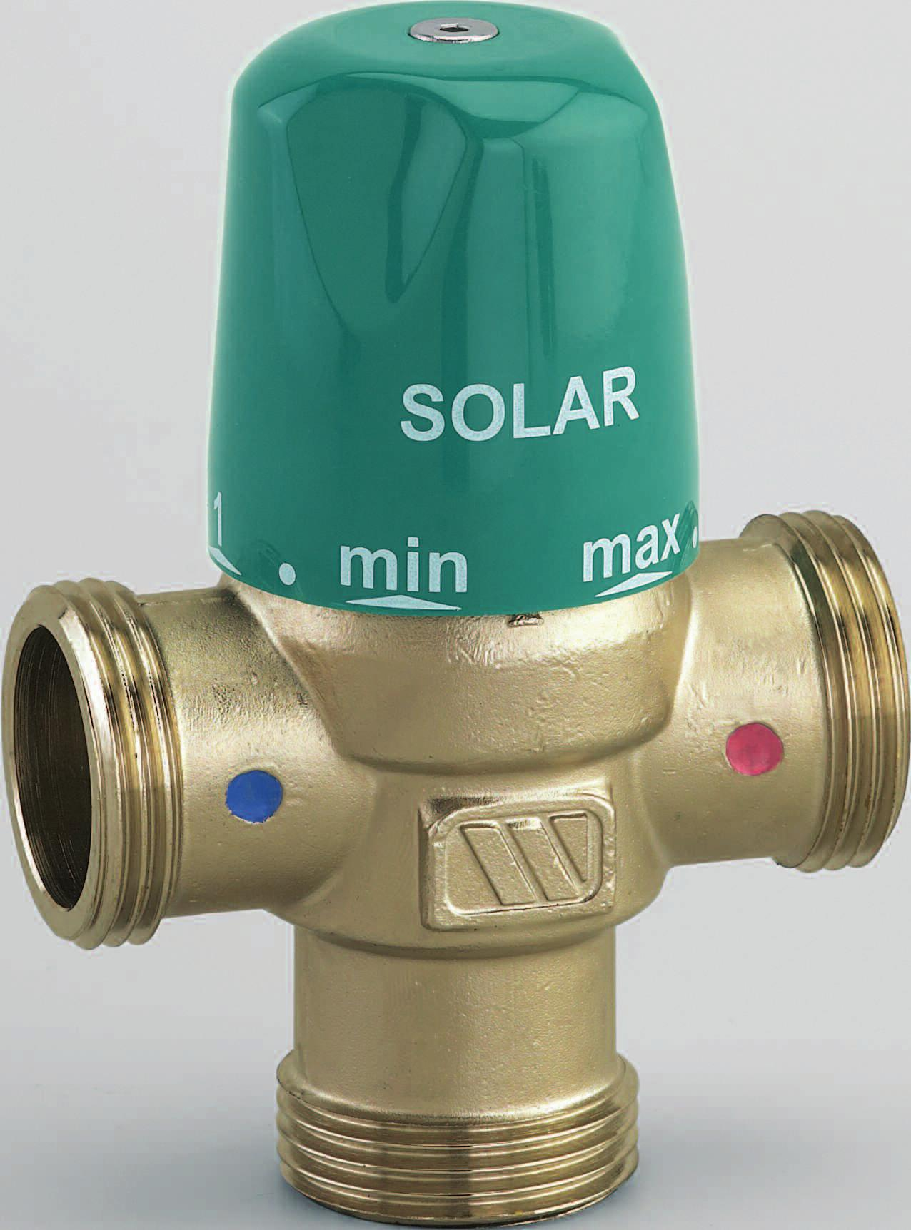 'Thermostatic mixing valve MMV-S for solar systems'